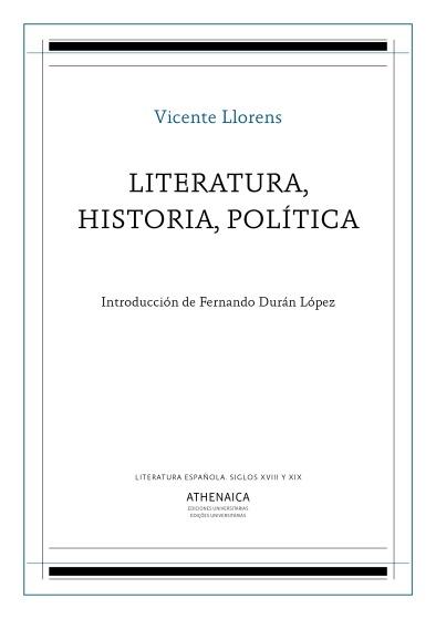 Portada Llorens Literatura historia política